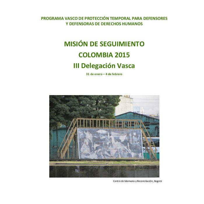Misión Seguimiento Colombia 2015