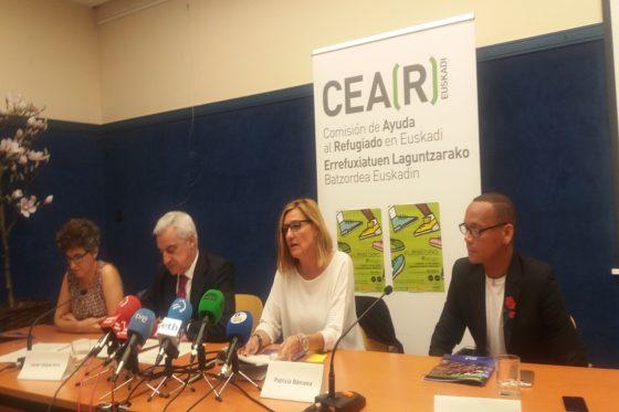 Adolfo, participando en la rueda de prensa de la presentación del Informe Anual de CEAR, con motivo del 20J