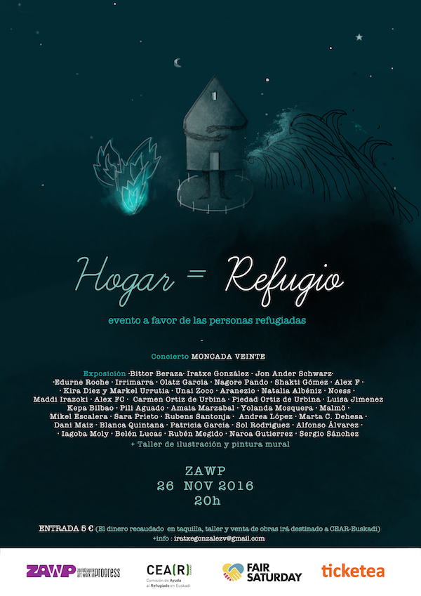 Cartel Evento Hogar=Refugio, Fair Saturday 2016, Bilbao